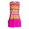 FILA Girls` Paint the Lines Tennis Dress Pink Glow Print