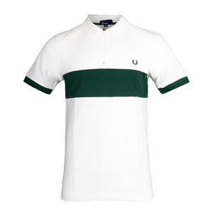 Men`s Chest Panel Pique Tennis Polo Snow White