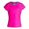 Girls` Paint the Lines Short Sleeve Tennis Top 543_PINK_GLOW