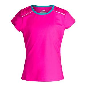 Girls` Paint the Lines Short Sleeve Tennis Top