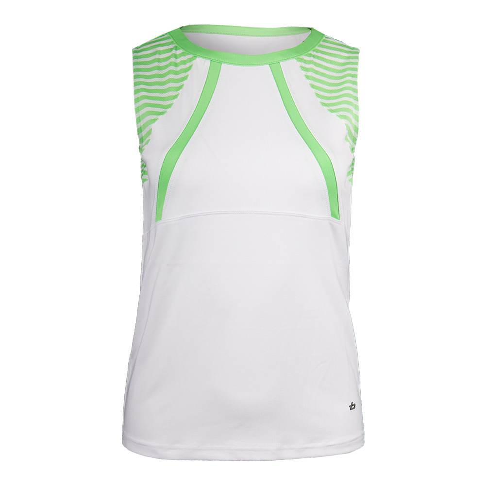 Women's Penelope Tennis Tank White And Green