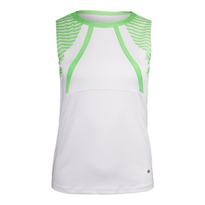 Women`s Penelope Tennis Tank White and Green