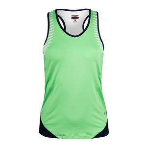 Women`s Penelope Racerback Tennis Tank Green