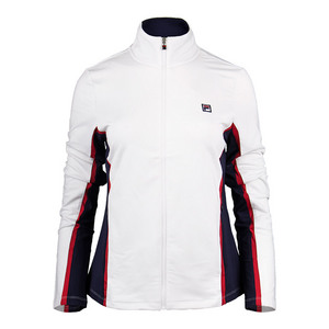Women`s Heritage Tennis Jacket White and Navy