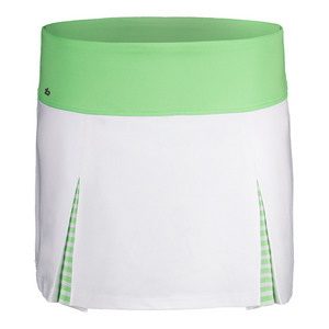 Women`s Penelope 13.5 Inch Tennis Skort White and Green