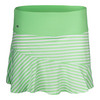Women`s Penelope 13.5 Inch Tennis Skort 0110_WHITE/GREEN