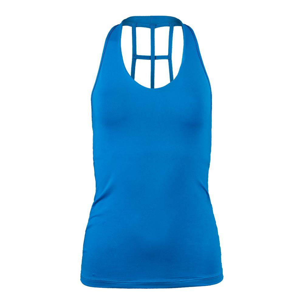 Women's Lucky Tennis Tank Turquoise