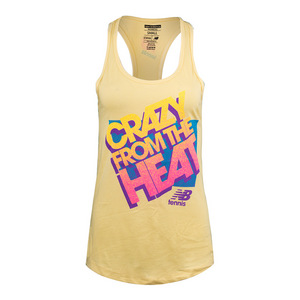 Women`s NB Crazy Heat Tennis Tank Yellow