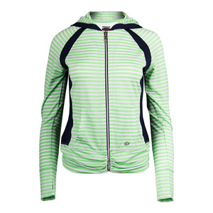 Women`s Penelope Tennis Jacket White and Green