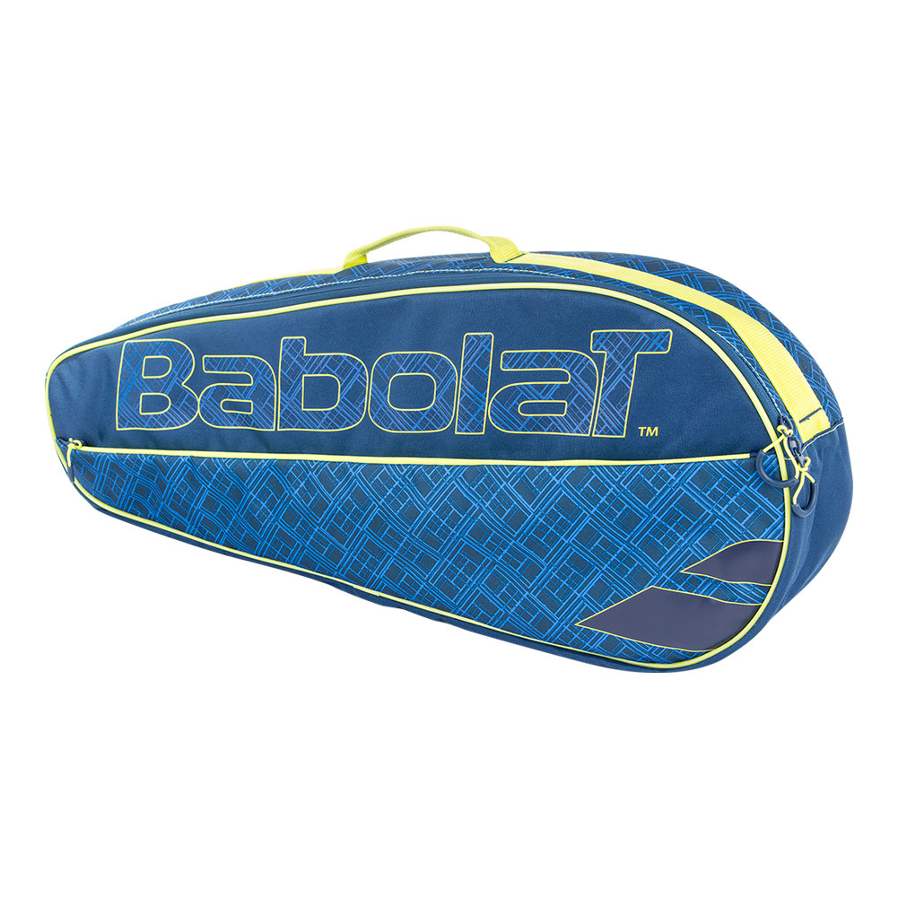 Club 3 Pack Essential Tennis Bag Blue And Yellow