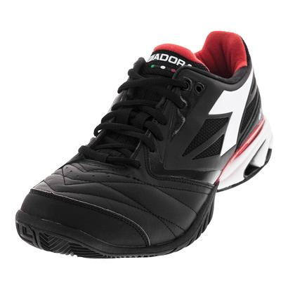 Men`s S Star K VIII AG Tennis Shoes Jet Black and White