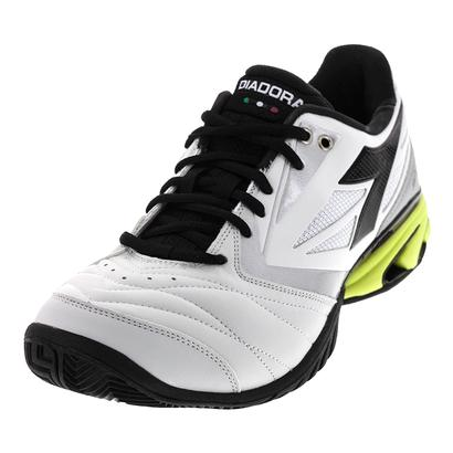 Men`s S Star K VIII AG Tennis Shoes White and Yellow