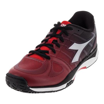 Men`s S Competition III AG Tennis Shoes Ferrari Red and Silver