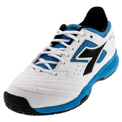 Men`s S Challenge AG Tennis Shoes White and Black