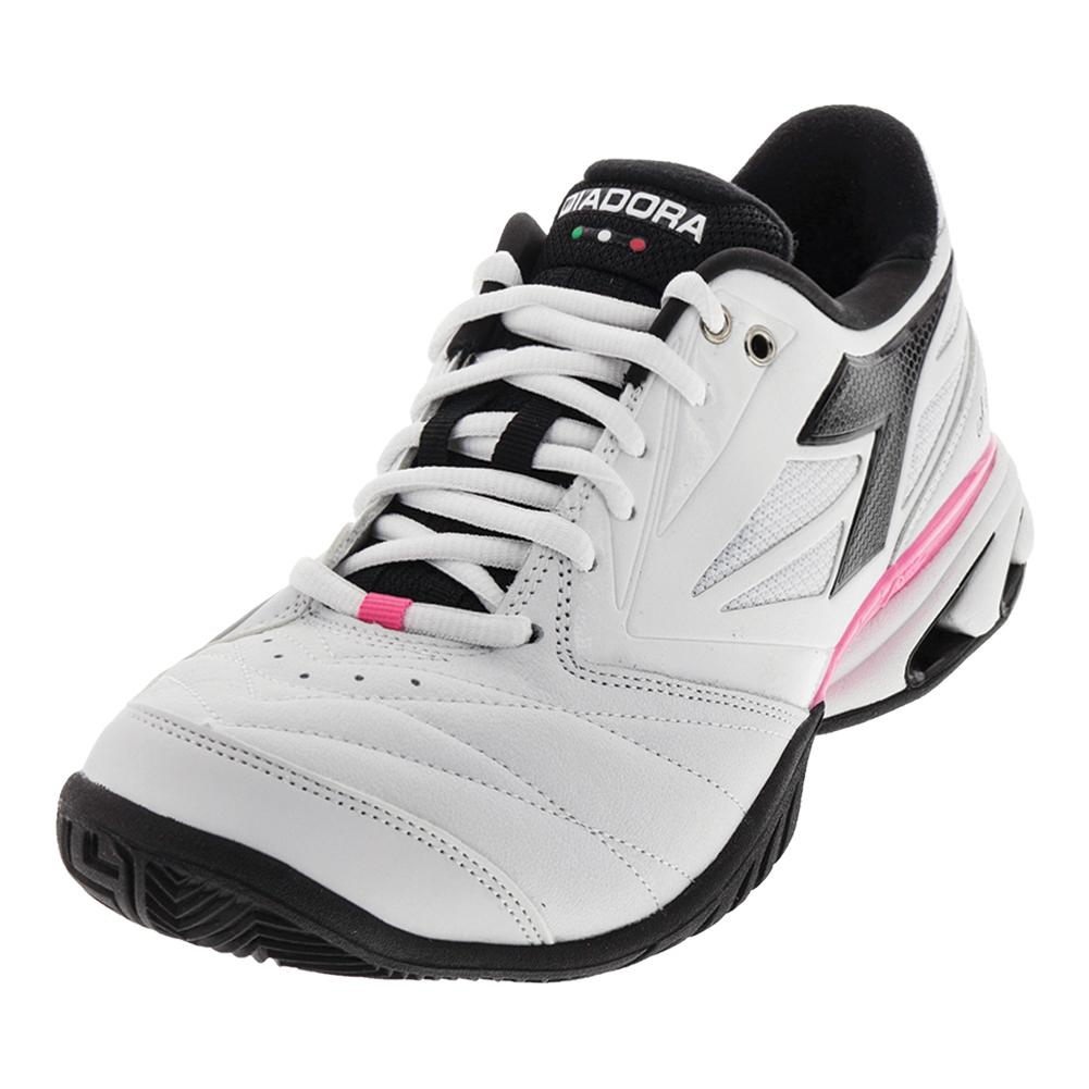 Women's S Star K Vii Ag Tennis Shoes White And Black