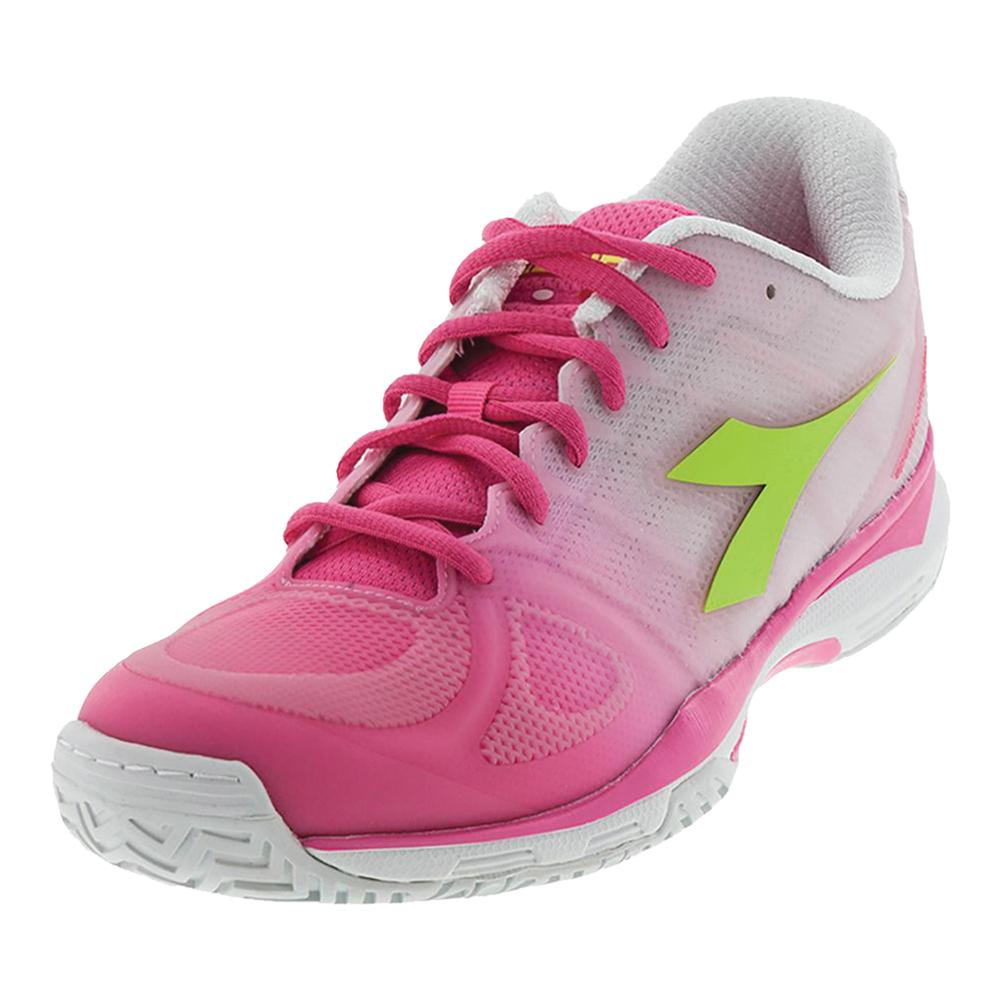 Women's S Competition Iii Ag Tennis Shoes Pink Fluo And White