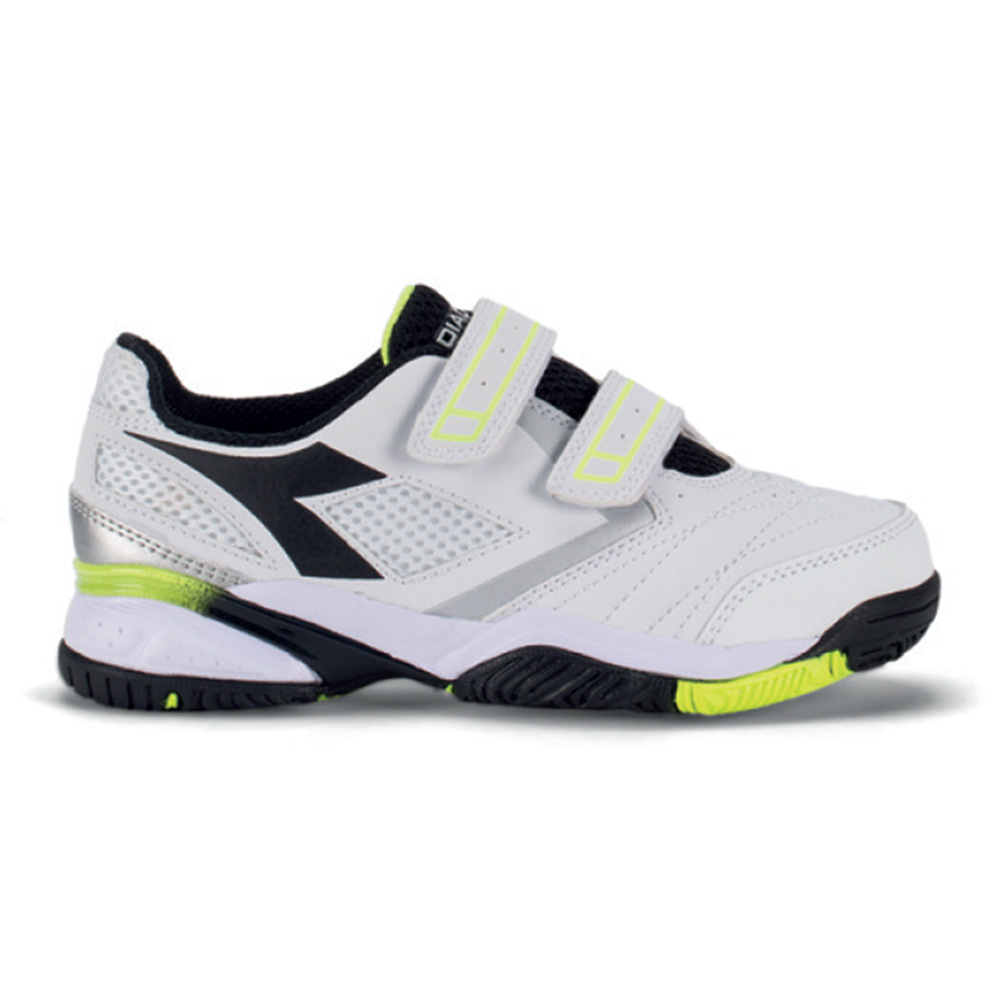 Juniors's Star Iii V Tennis Shoes White And Black