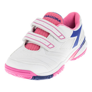 Juniors` S Star III V Tennis Shoes White and Deep Blue