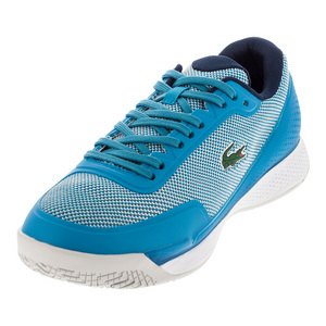 Women`s Lt Pro 117 Tennis Shoes Light Blue and Navy