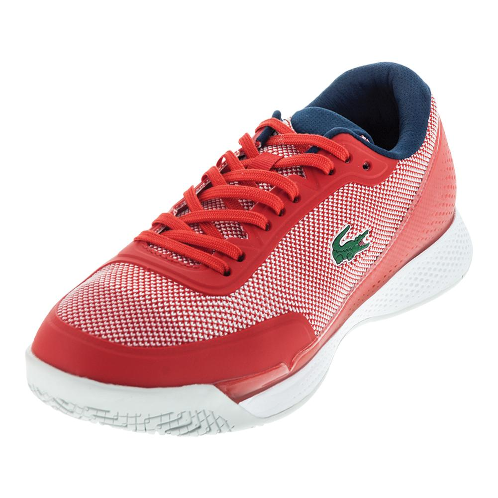 lacoste shoes red