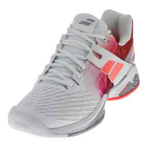 Women`s Propulse Fury All Court Tennis Shoes White and Pink