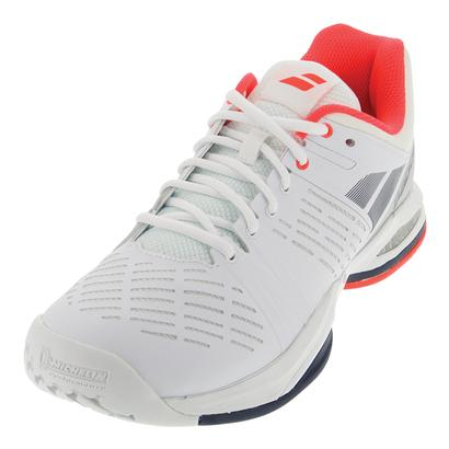 Men`s Propulse Team All Court Tennis Shoes White and Blue