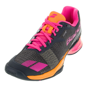 Women`s Jet All Court Tennis Shoes Gray and Orange