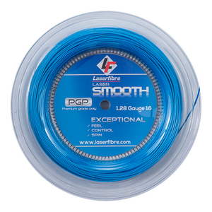 Laser Smooth 16G Tennis String Reel Blue