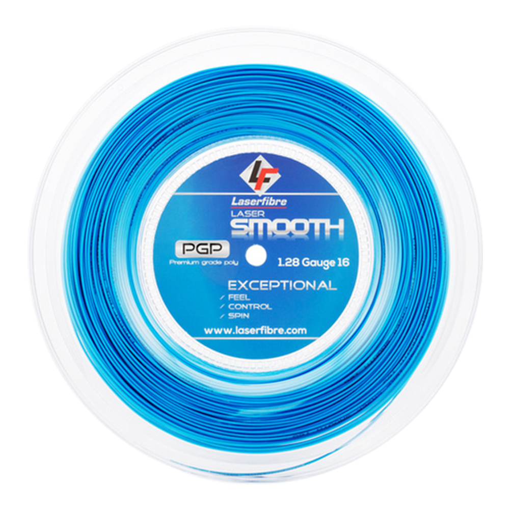 Laser Smooth 16g 240 Foot Mini Tennis String Reel Blue