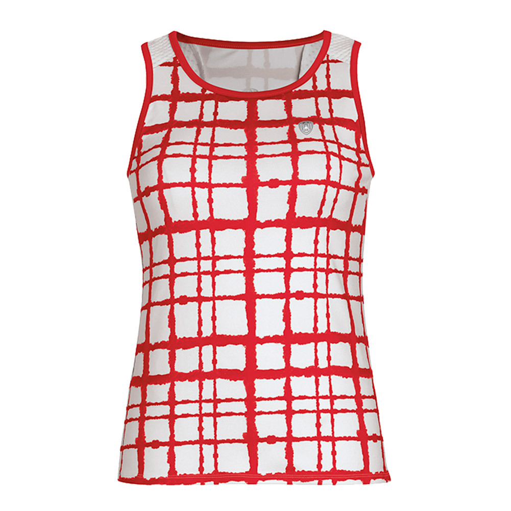 Women's Absolute Sublimated Racer Tennis Tank Red