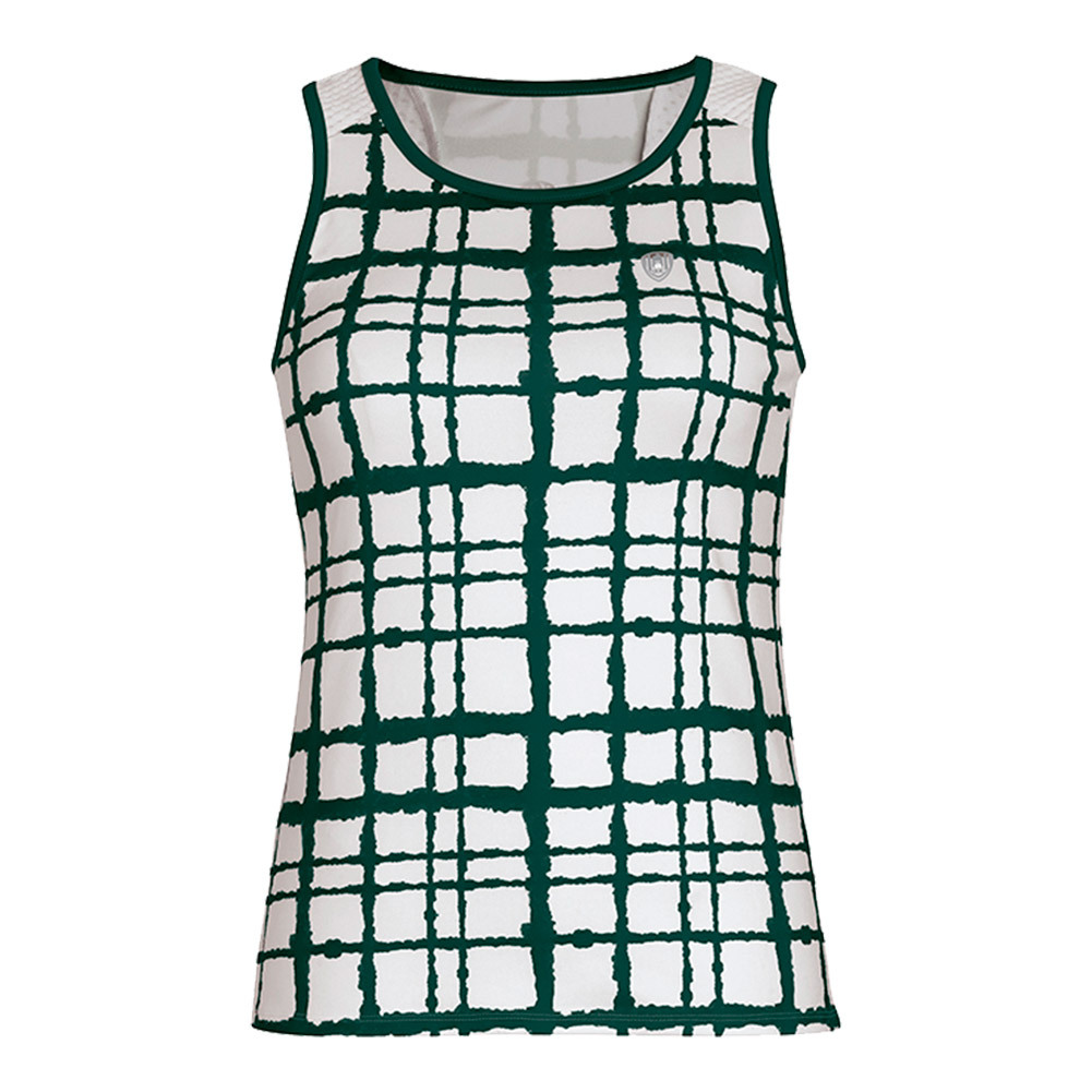 Women's Absolute Sublimated Racer Tennis Tank Pine