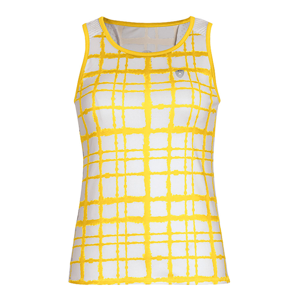 Women's Absolute Sublimated Racer Tennis Tank Gold