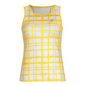 Women`s Absolute Sublimated Racer Tennis Tank Gold