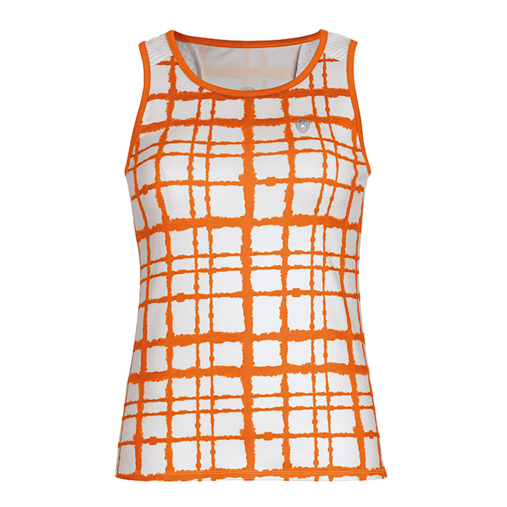 Women's Absolute Sublimated Racer Tennis Tank Orange
