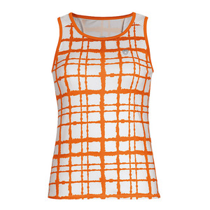 Women`s Absolute Sublimated Racer Tennis Tank Orange