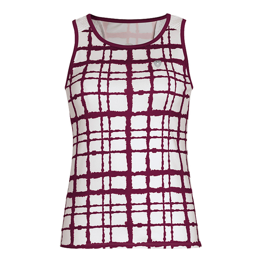 Women's Absolute Sublimated Racer Tennis Tank Maroon