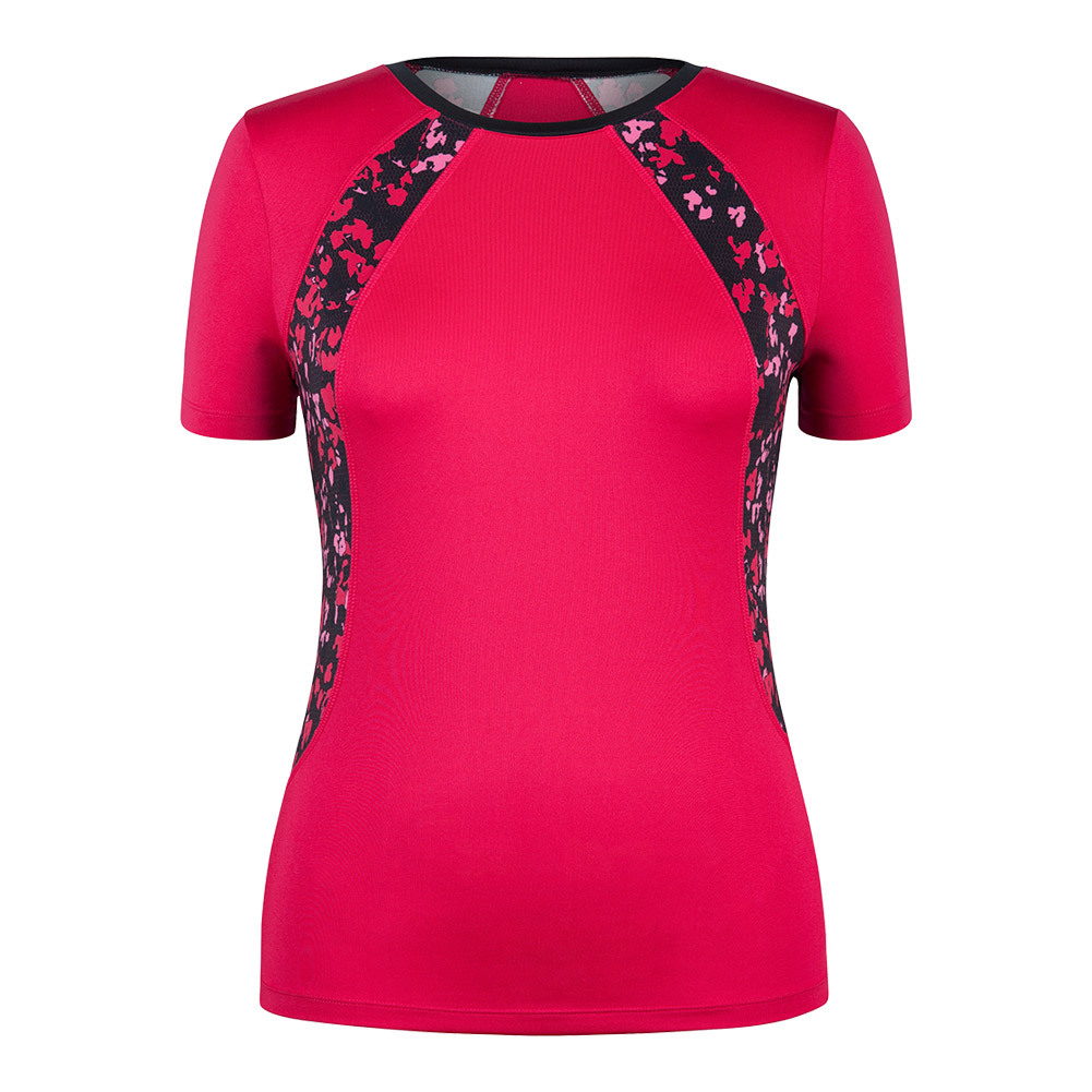 Women's Hayden Cap Sleeve Tennis Top Hibiscus