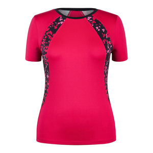 Women`s Hayden Cap Sleeve Tennis Top Hibiscus