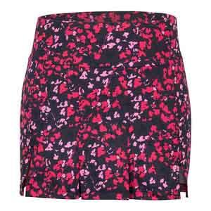 Women`s Loria 14.5 Inch Tennis Skort Floral Mesh