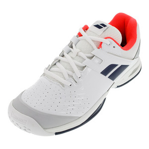 Juniors` Propulse All Court Tennis Shoes White and Blue