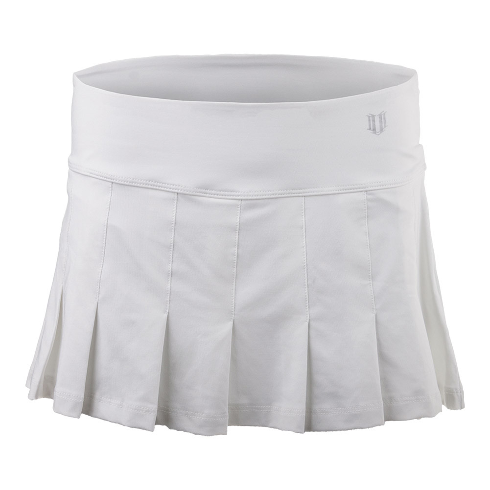 Women's Flutter 12 Inch Tennis Skort White