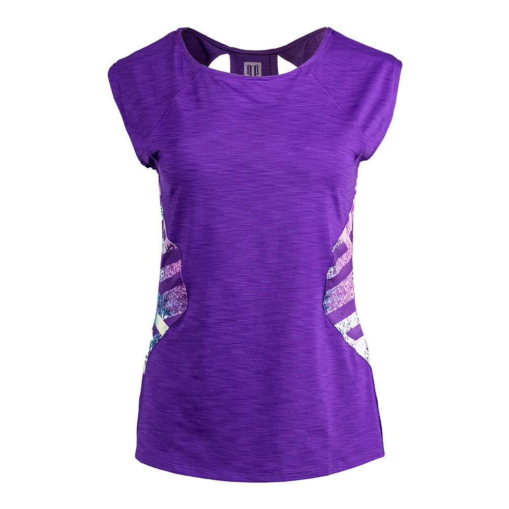Women's Center Stage Cap Sleeve Tennis Top Purple