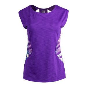 Women`s Center Stage Cap Sleeve Tennis Top Purple