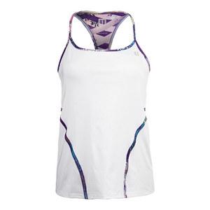 Women`s Glide Back Tennis Tank White