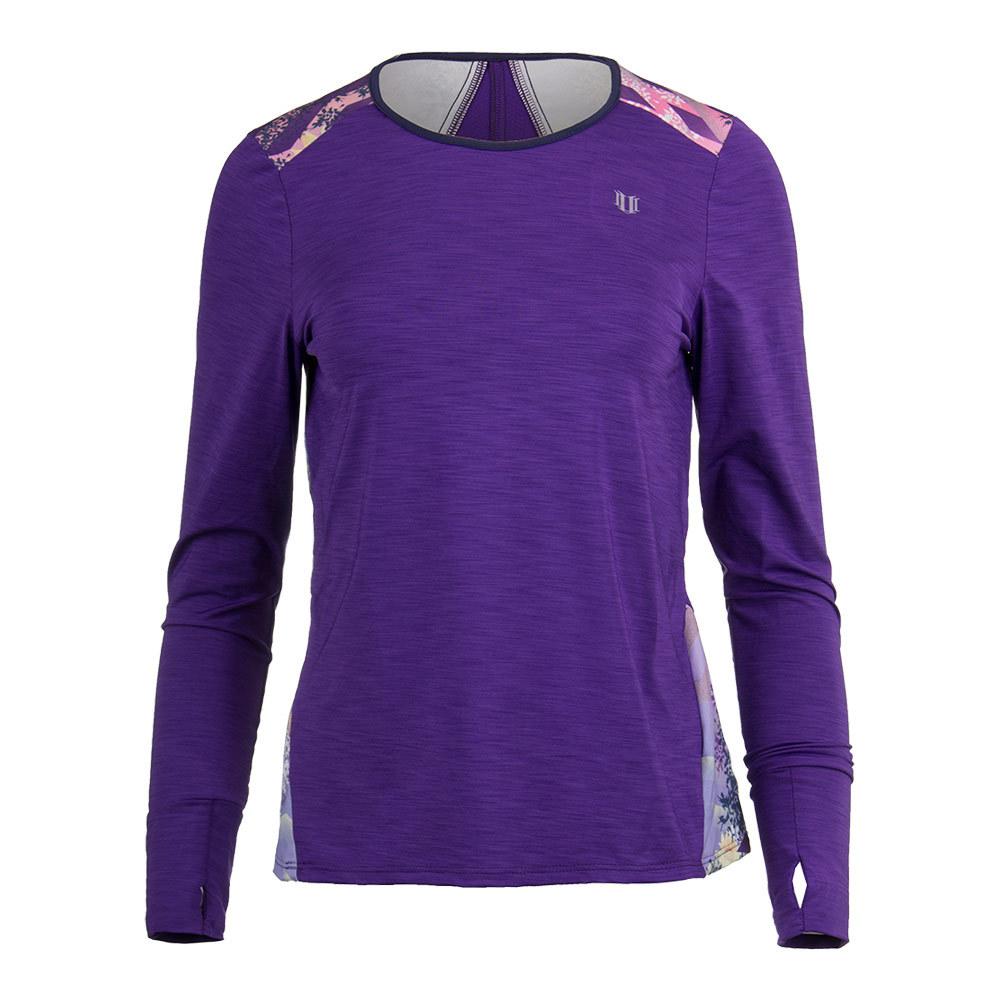 Women's Xtreme Long Sleeve Tennis Top Purple
