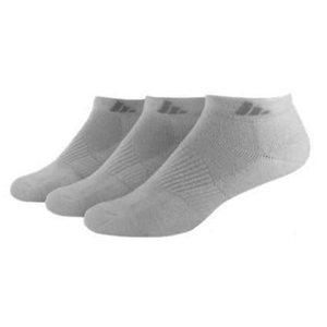 Women`s Cushion Low Cut Socks 3 Pack White Size 5-10