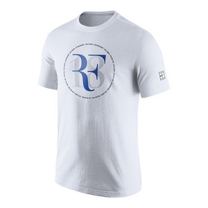 Men`s Roger Federer Celebration Tennis Tee White
