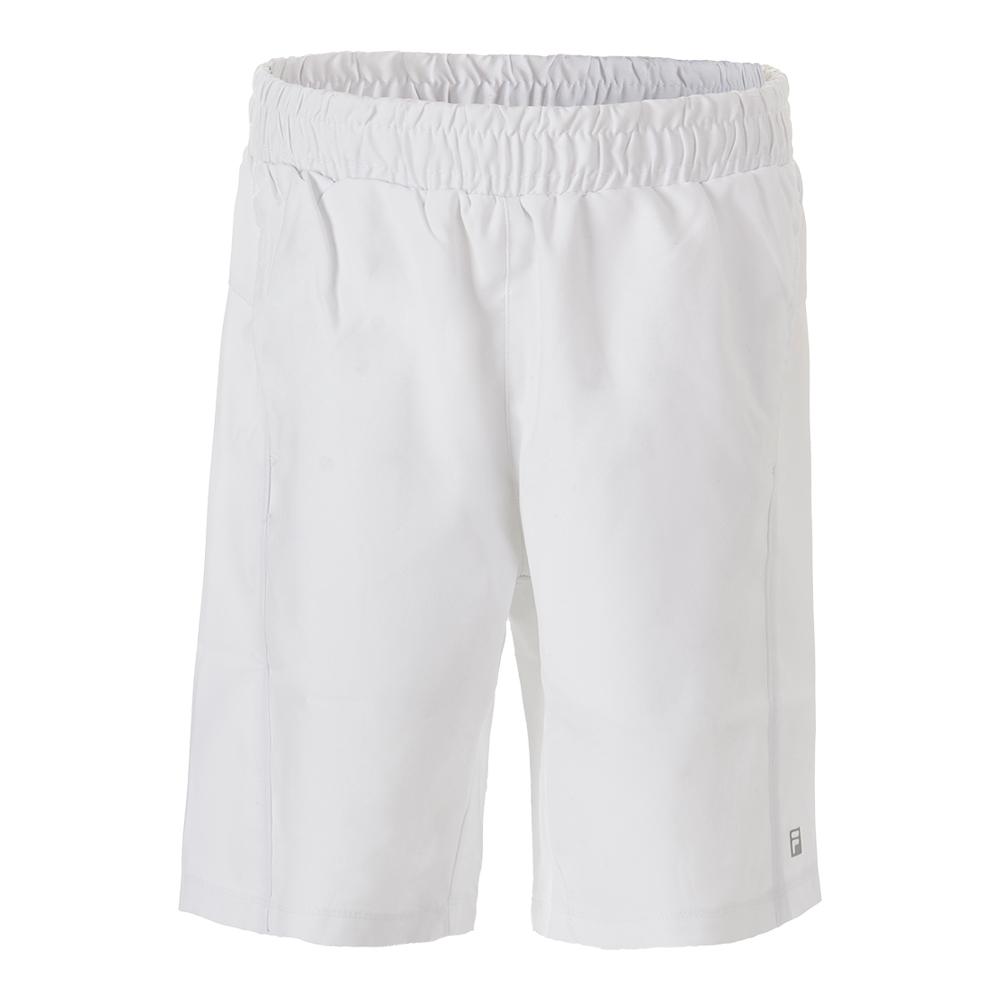 Boys ` Fundamental Piped Tennis Short White