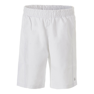 Boys` Fundamental Piped Tennis Short White