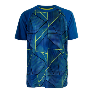 Boys` Slice Printed Tennis Crew Electric Blue